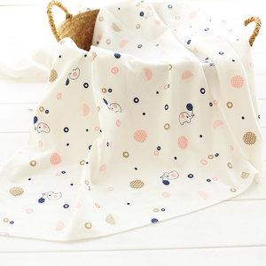 磨毛绒布精梳针织纯棉宝宝婴儿a类睡衣棉布弹力卡通服装面料布料
