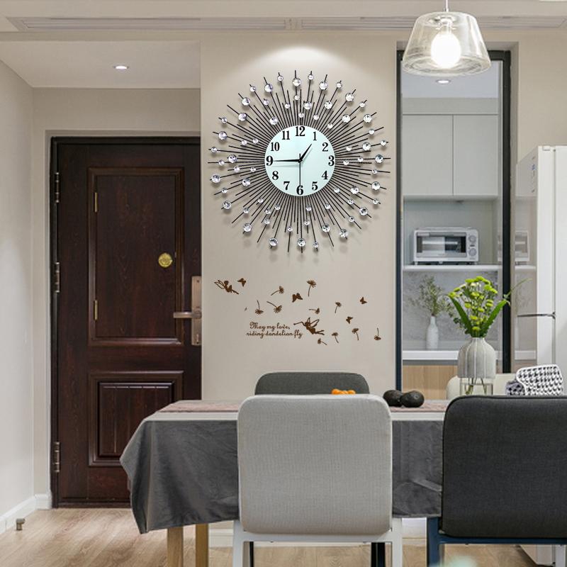 北欧式钟表挂钟客厅现代简约大气表家用时尚个性艺术装饰轻奢时钟
