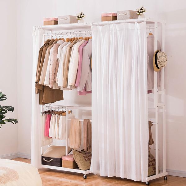 现代简约实木衣柜韩式经济型开放式卧室木质柜子储物收纳简易衣柜