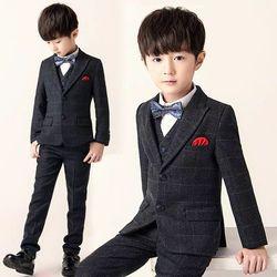 男花童小西装主持人男孩儿童礼服