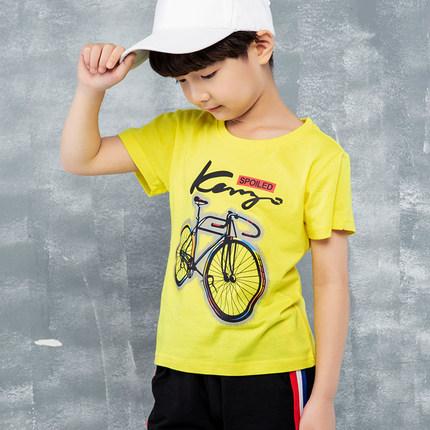 童装男童短袖T恤2019夏季新款儿童t恤宝宝半袖中大儿童上衣打底衫