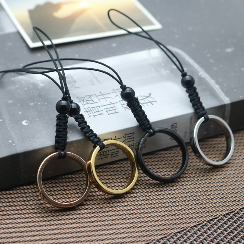 Creative mobile phone chain hanging rope short u barring key pendant lovely men and womens Pendant rings lovers