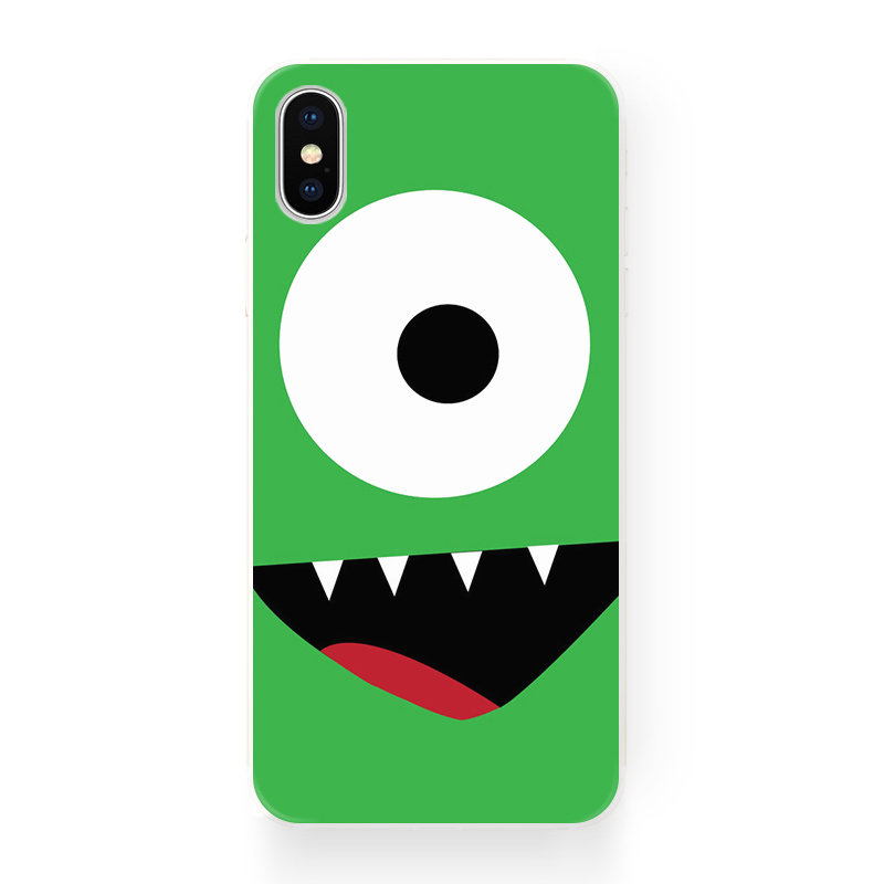 小清新青绿色大眼仔 苹果12 iphone 11 Pro Xs Max XR 原创手机壳