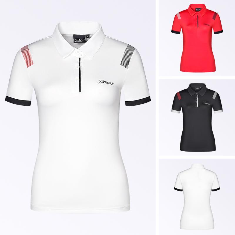 20新款高尔夫女士短袖上衣夏季休闲运动百搭T恤修身显瘦GOLF服装