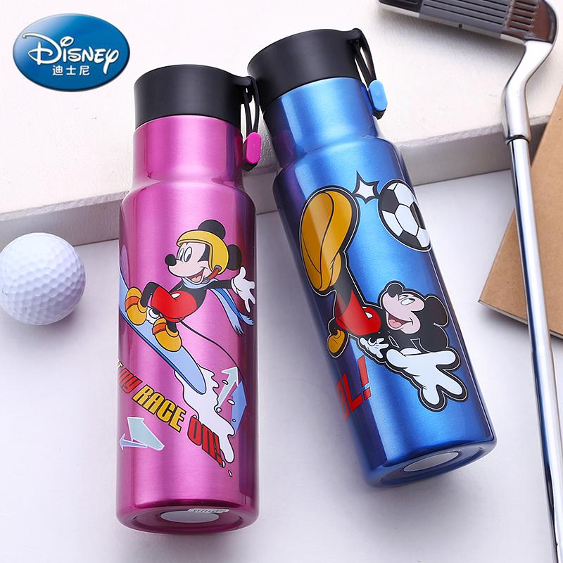 迪士尼儿童保温杯不锈钢ins水杯男女小学生便携防摔随手运动水壶