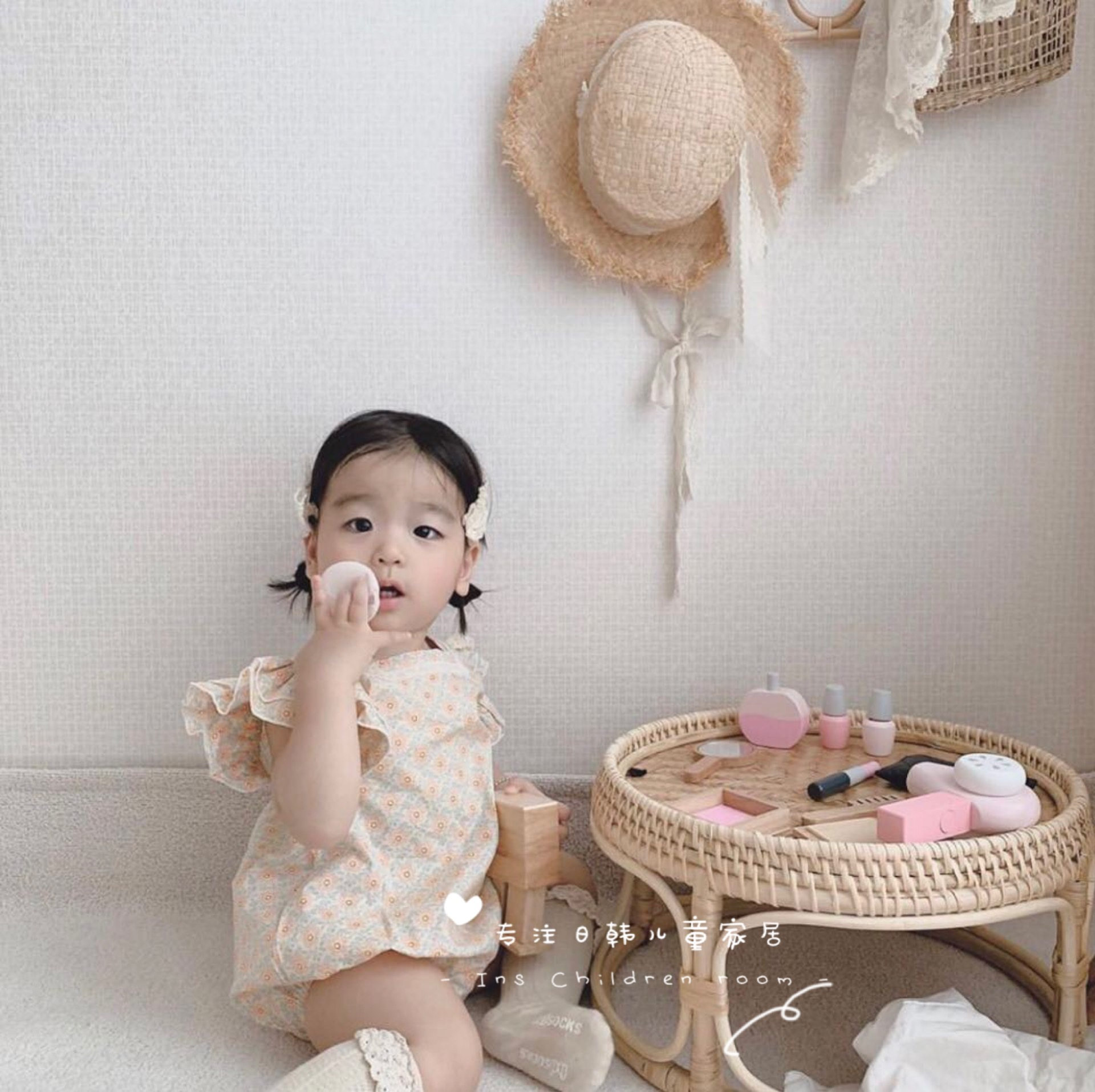 出口韩国ins风木质儿童化妆包玩具女宝过家家道具幼儿园角色扮演