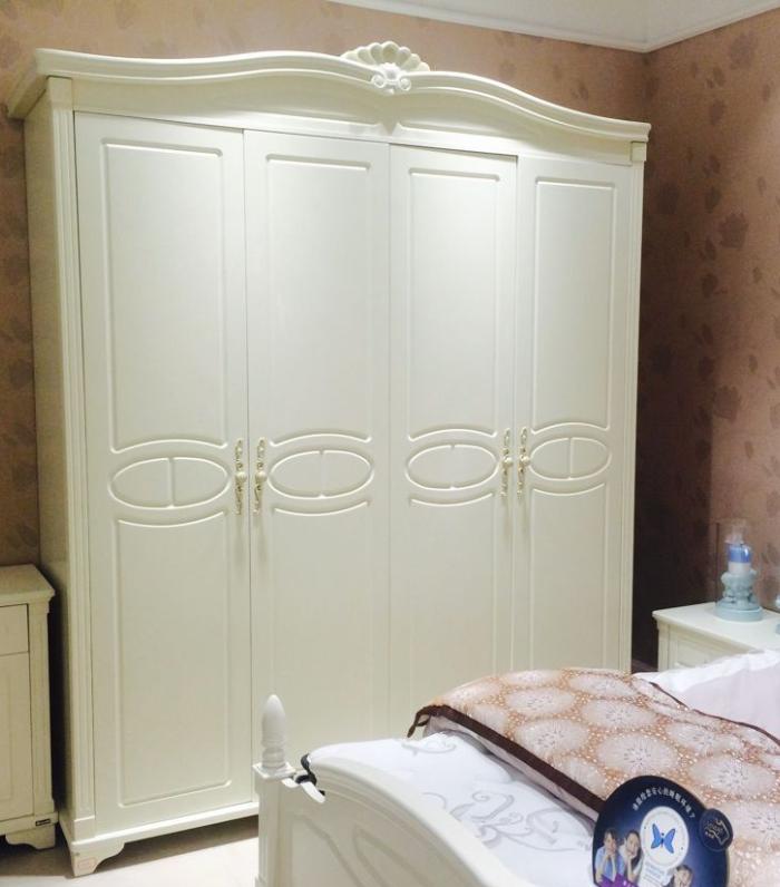 香港皇朝家私北欧风情系列正品M8D006实木四门欧式大衣柜