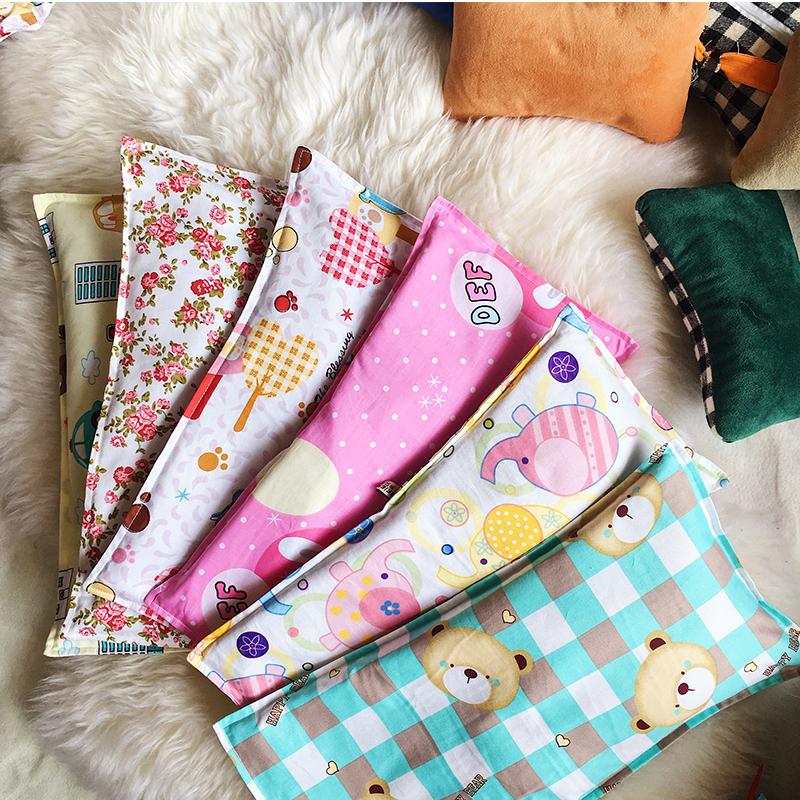 新生儿天然细沙蚕沙枕头 宝宝定型枕 纯棉枕套 婴儿夏天枕