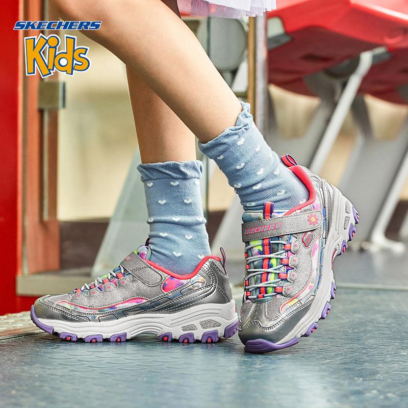 Skechers斯凯奇D'lites女童儿童休闲运动鞋防滑耐磨熊猫鞋 80528L
