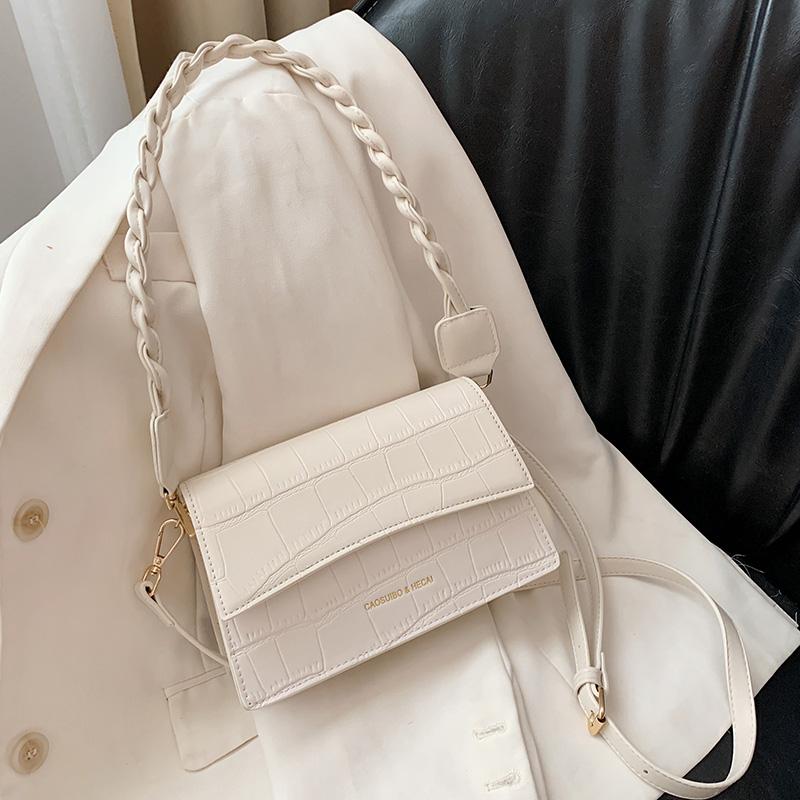法国质感流行包包女2021夏季新款时尚鳄鱼纹手机包百搭单肩斜挎包