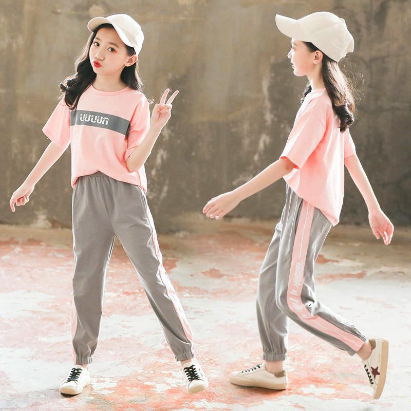 女童夏装套装2020新款儿童装洋气网红女孩夏季中大童女时髦两件套