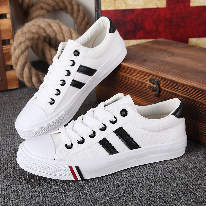 Canvas shoes mens new fall 2019 low top mens shoes breathable Korean casual mens shoes fashion shoes British Board Shoes