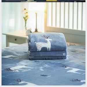单人冬天宿舍学生加厚冬季1.2m床单少女生毛毛单子被子珊瑚绒毛毯