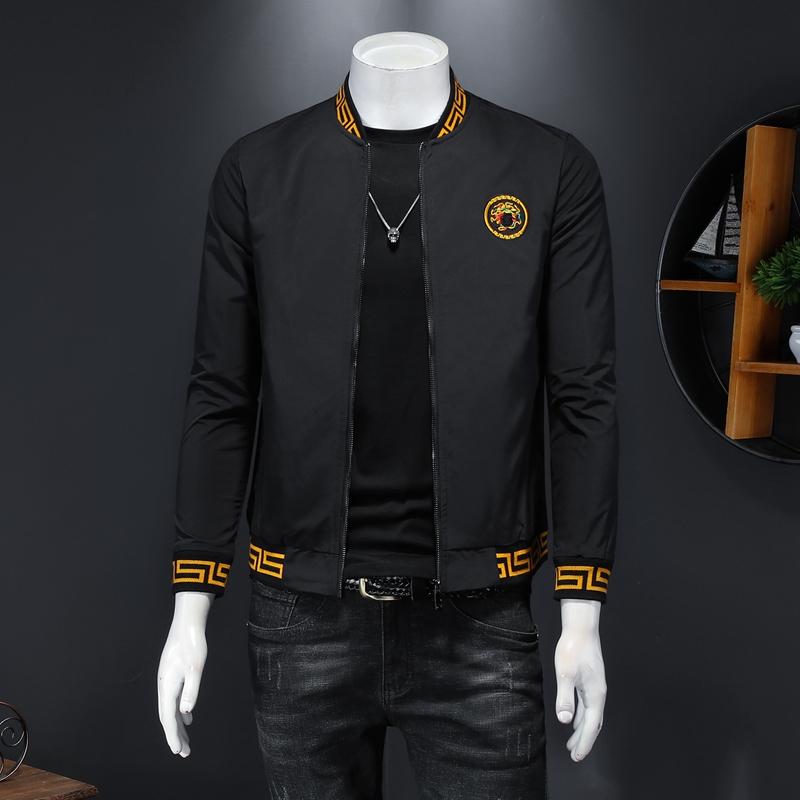 Europe station menswear 2021 autumn new Korean baseball collar casual coat youth Medusa Sequin jacket