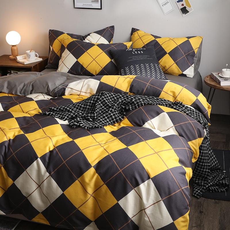 北欧四件套全棉纯棉100床上用品学生宿舍三件套ins风被套床单夏季
