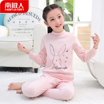Antarctic childrens underwear set cotton collar female big boy autumn clothes autumn pants Two set warm all cotton sweaters