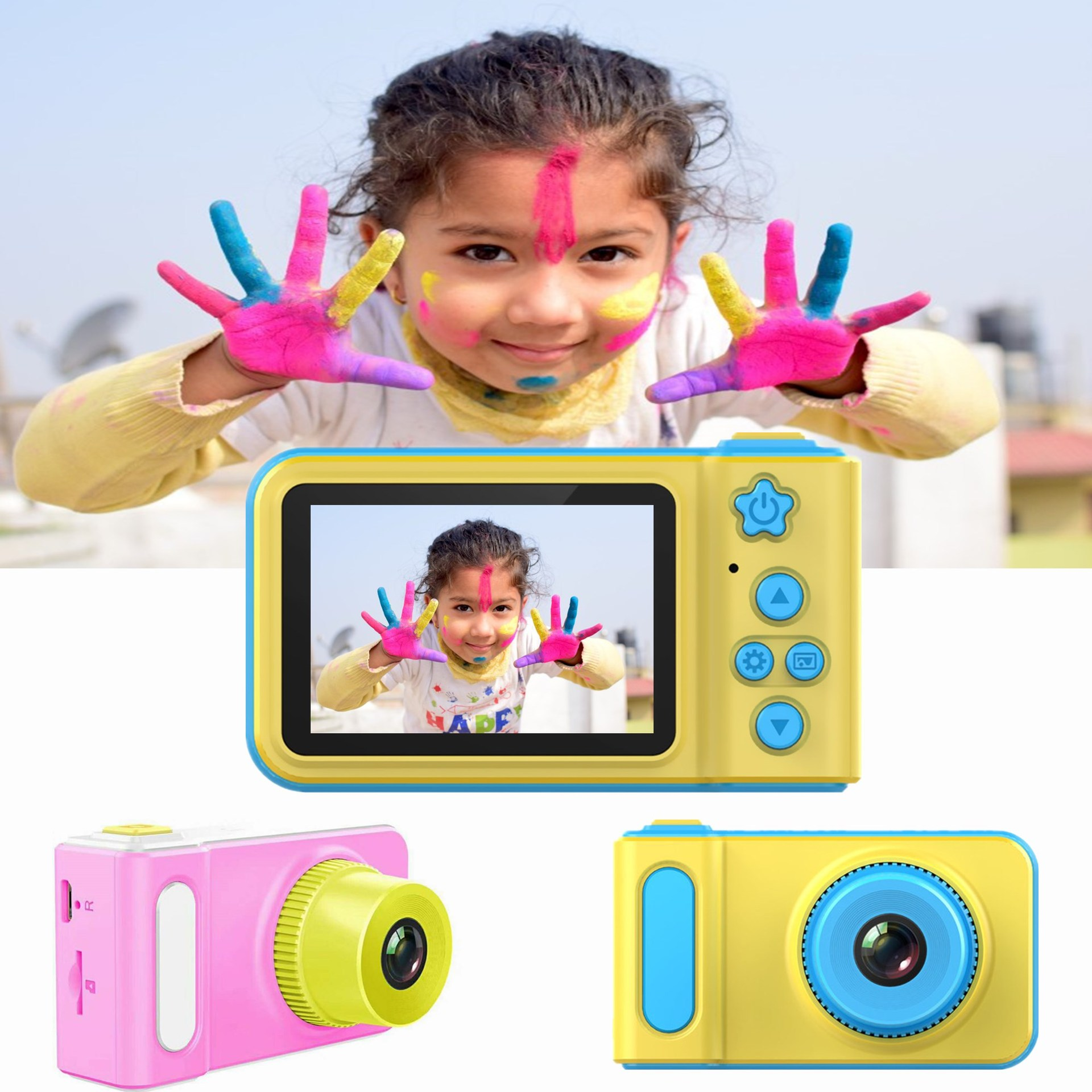 New childrens camera children cartoon digital camera small SLR motion camera DV toys gifts