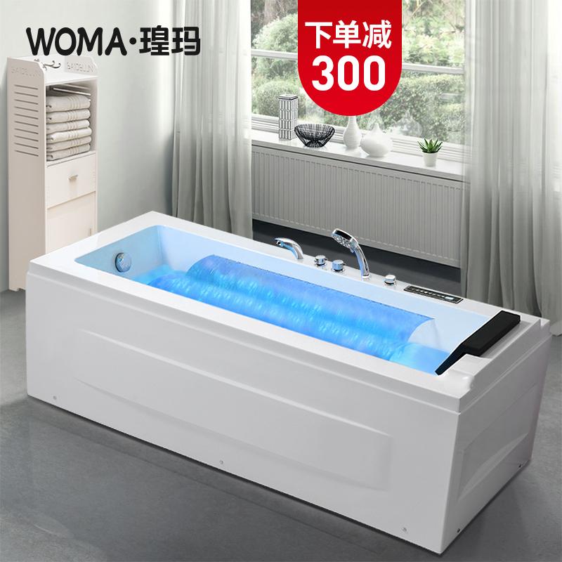 Karma ванна главная взрослая ванная комната небольшая квартира мини-термостатическая ванна интерьер Акриловая массажная ванна