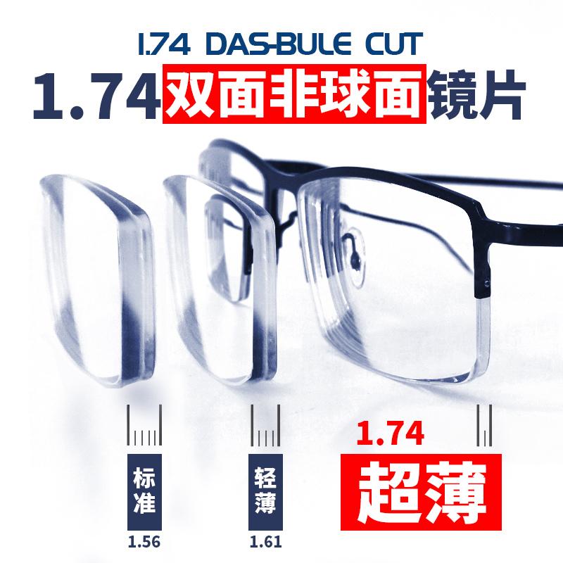 鼎茂高度近视眼镜片1.74超薄非球面镜片1.67防蓝光变色配镜实体店