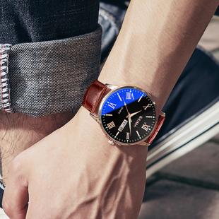 2020新款抖音正品牌名牌商务石英男士手表国产学生全自动机械男表价格