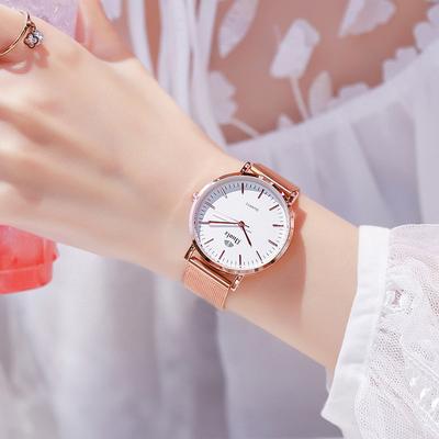 手表女士学生简约气质韩版时尚潮流防水大气品牌石英女表网红正品