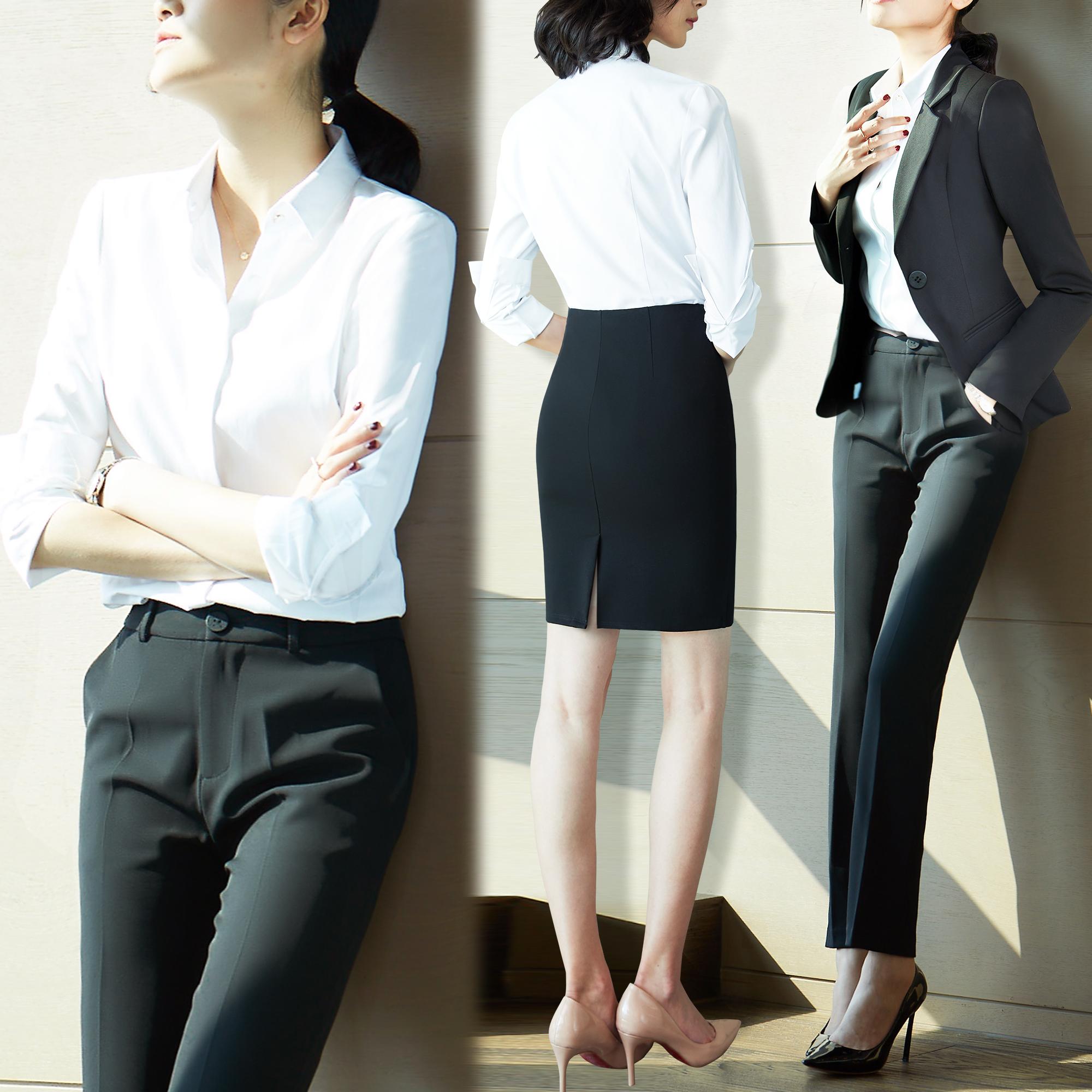 职业套装女西装工作服正装职场商务时尚大学生面试气质工装女神范