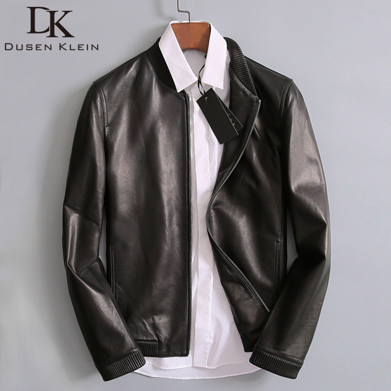 Fall and winter 2020 Haining leather coat men's sheepskin cotton jacket baseball suit stand neck slim short fashion coat