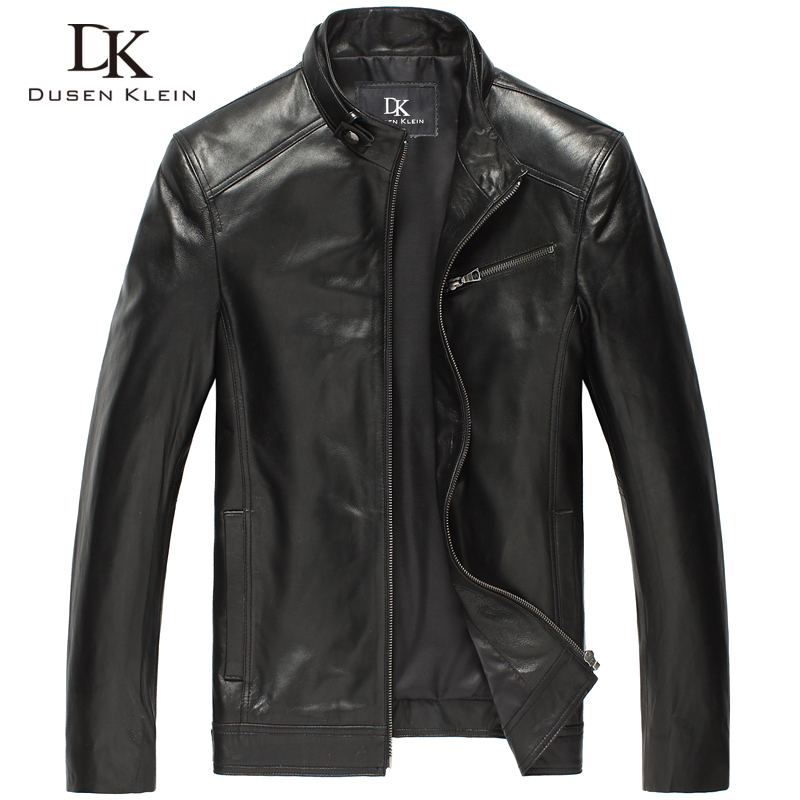 Haining leather leather men's leather locomotive leather jacket men's single leather men's sheep skin plus Cotton autumn winter coat