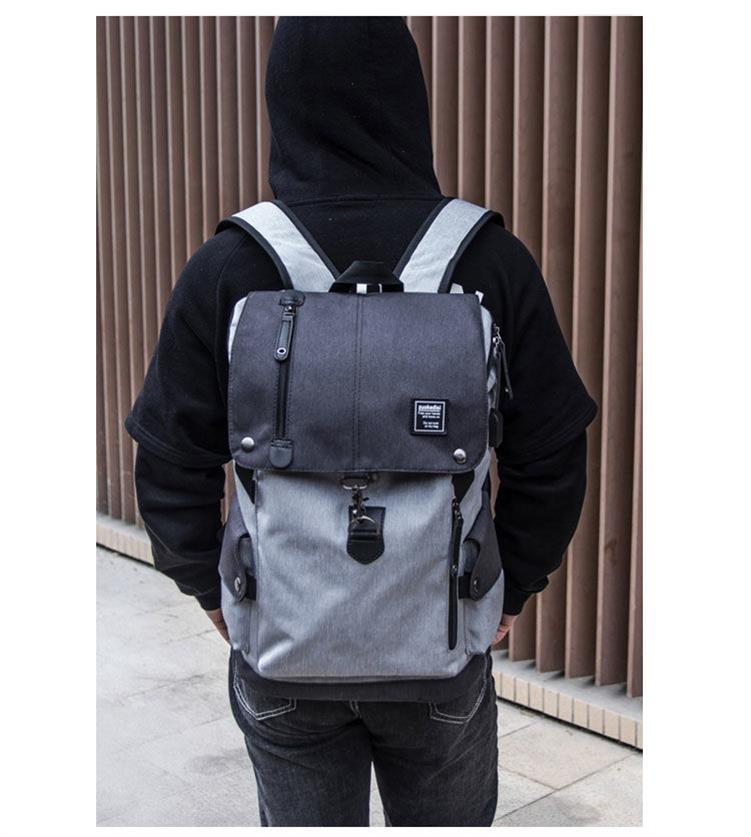 Fashion British style Hong Kong Style backpack backpack backpack for men and Japanese department college style computer bag ins simple retro style fitness
