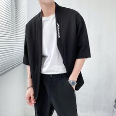 轻熟风~夏季薄款五分袖西服抽绳设计腰带披风外套 X011/P75