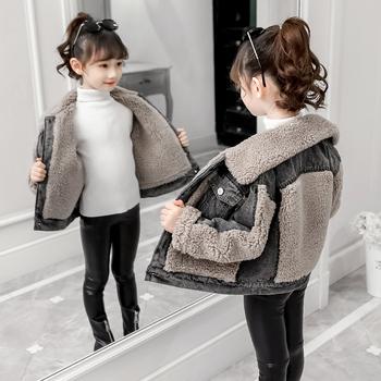 儿童秋冬装女童棉衣7加绒加厚5 8