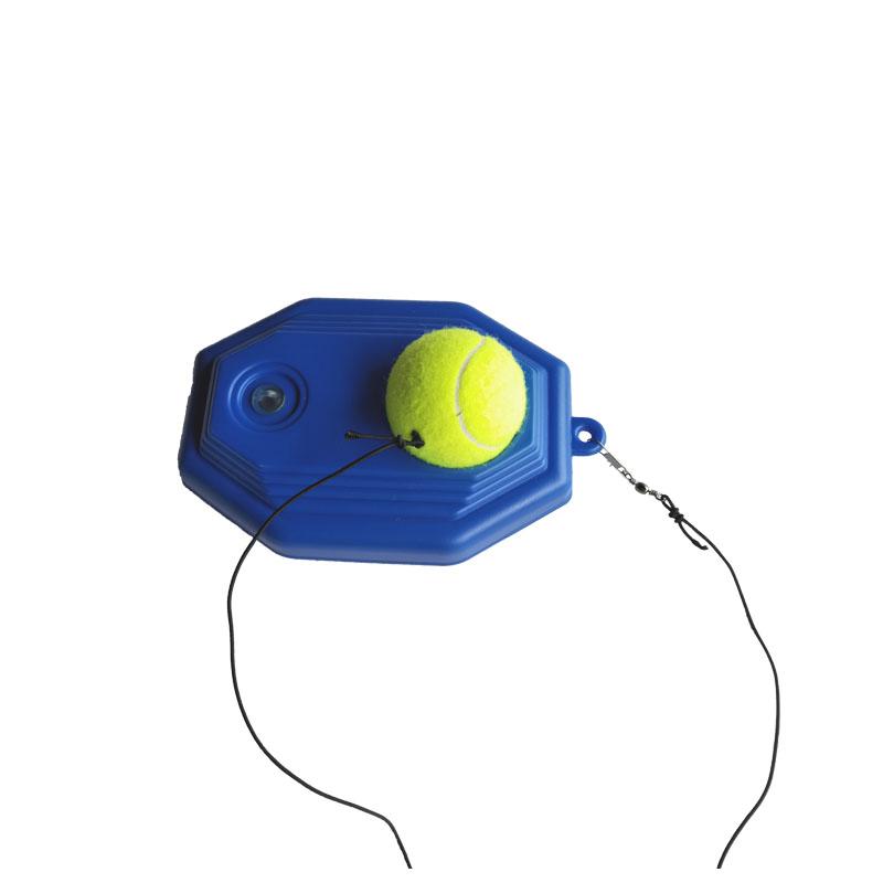 网球训练器单人带线回弹套装初学者带弹力绳子网球练习器固定底座