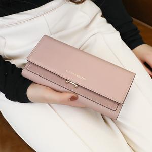 KQueenStar女士钱包女2020年新款日韩大容量简约磨砂长款钱包钱夹图片