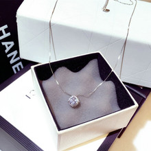 East Gate high grade new fashion Japan and South Korea luxury super flash set water diamond square temperament collarbone Necklace short necklace female