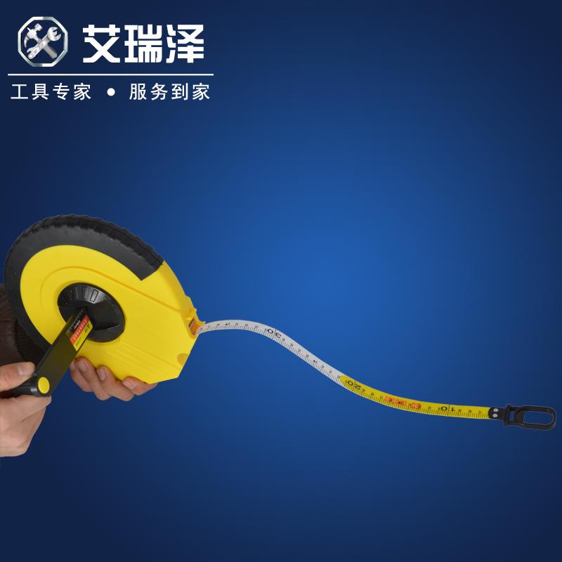 艾瑞澤超韌性纖維防水皮卷尺10米20米30米50米軟皮尺軟尺米尺盒尺