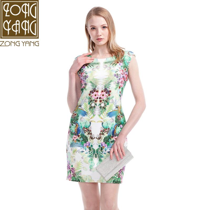 宗洋ZONGYANG专柜女装 2016春季新款 中国风连衣裙 打底裙ST1422
