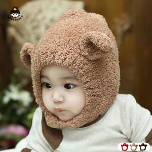 婴儿帽子冬季毛线帽韩国版儿童秋冬男女童帽子保暖可爱宝宝帽子