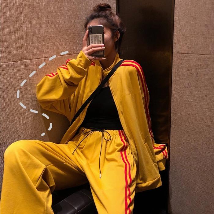 网红运动套装2019新款女秋装韩版学生外套+休闲阔腿裤洋气两件套12月01日最新优惠