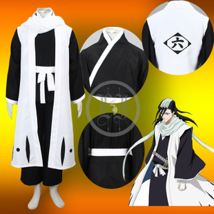 LJCOS Bleach Kuchiki Byakuya cosplay clothes kendo six teams robe Fan Death Clothing