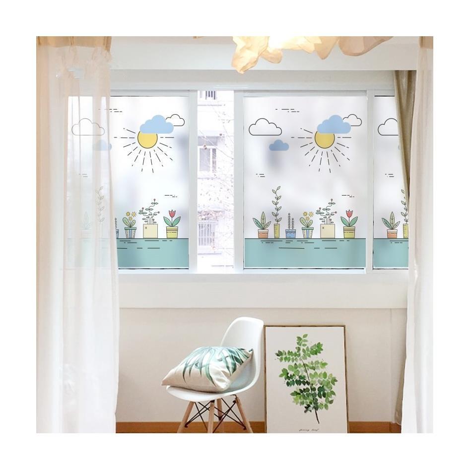 19.80元包邮窗户磨砂玻璃贴纸贴膜窗花贴透光不透明办公室浴室移门卫生间防