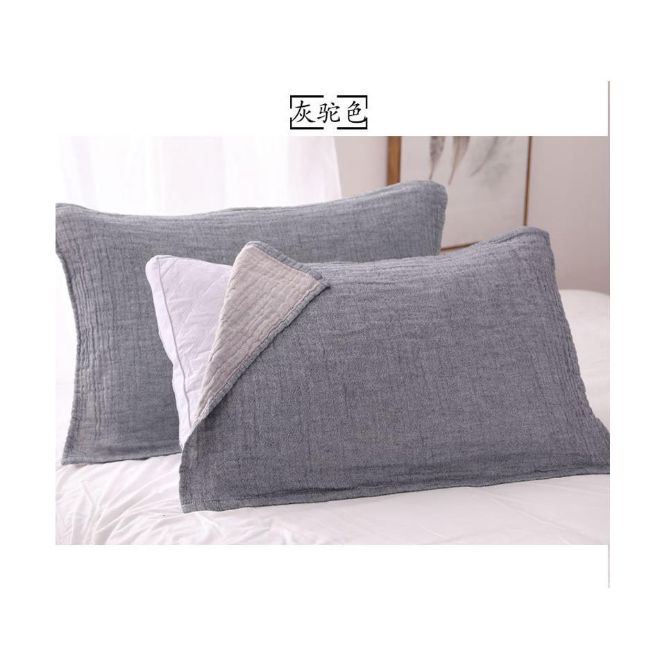 10月10日最新优惠透气枕头巾枕头情侣枕巾套纱布枕套