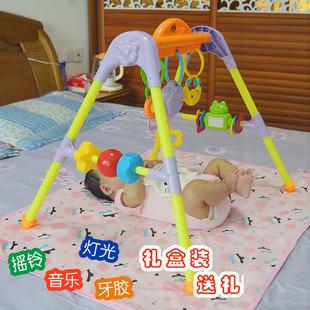 新生儿婴儿宝宝床上摇铃0 6个月床铃音乐健身架早教玩具架挂件