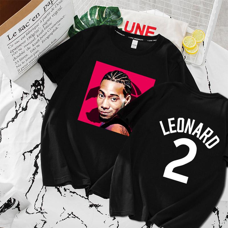 热销1件包邮伦纳德短袖 猛龙队2019新款总冠军篮球衣服莱昂纳德2号宽松男T恤