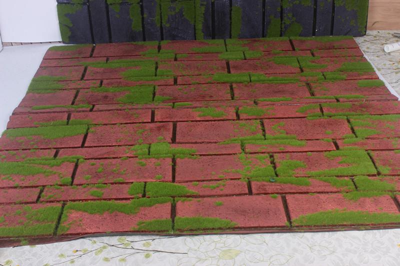 仿真青苔 草皮 苔藓草坪 菁苔石植物墙 砖块墙 园林植物装饰品