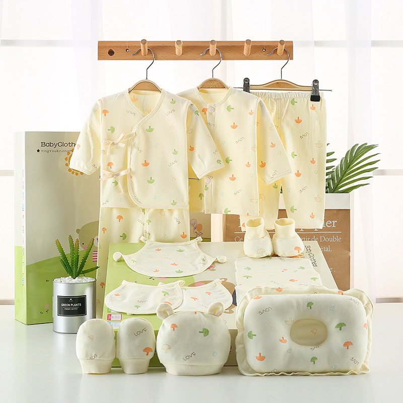 Newborn baby supplies Daquan gift box newborn suit spring and autumn baby clothes cotton baby spring