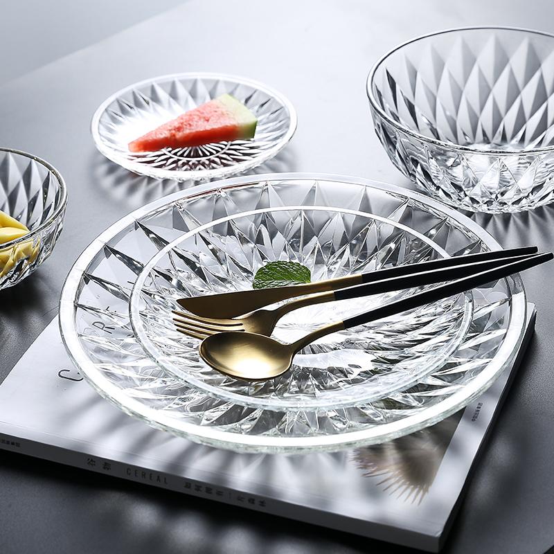水果盘家用ktv创意现代玻璃盘子