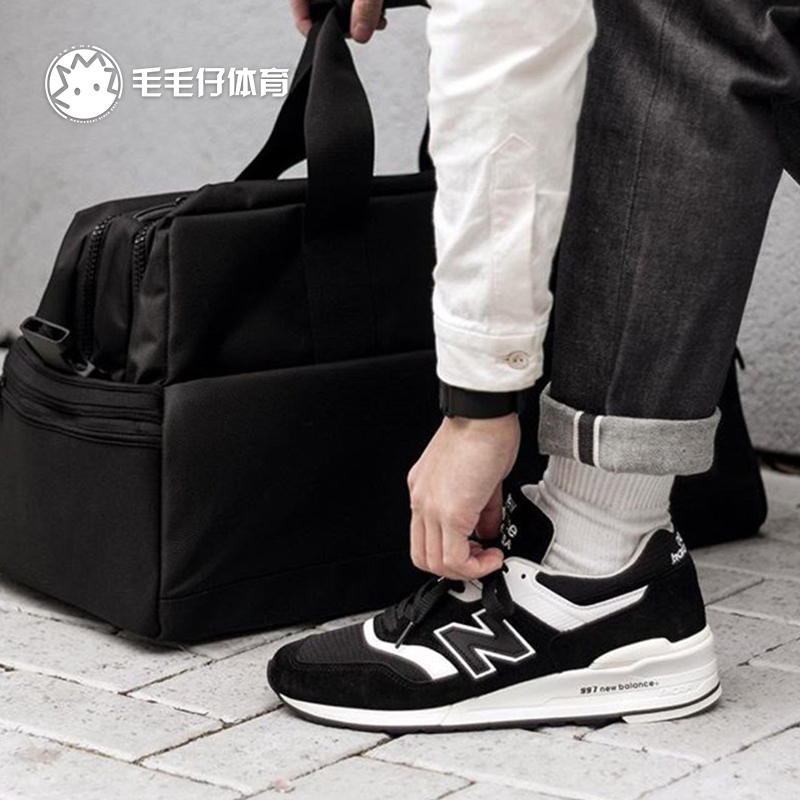 New balance997男鞋美产USA经典黑白高端限量NB复古慢跑鞋M997BBK