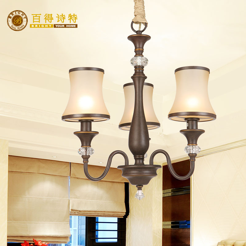Paterson European three head chandelier dining chandelier living room bedroom chandelier Hestia series ha1053