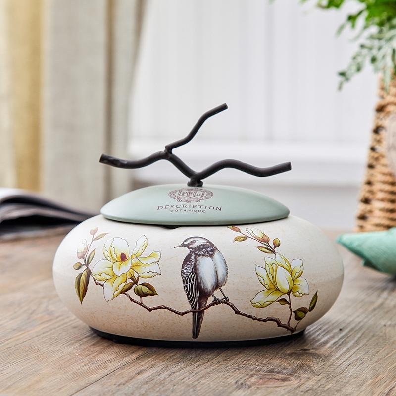 48.00元包邮美式客厅家用创意带盖陶瓷个性烟缸