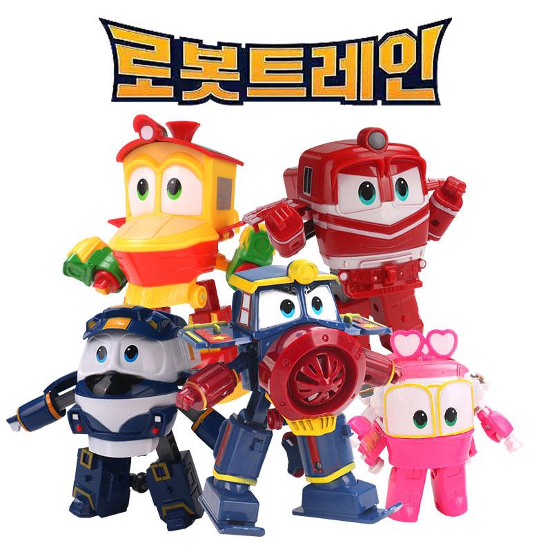 韩国第二代GINA变形火车机器火车侠robot trains动感火车家族玩具